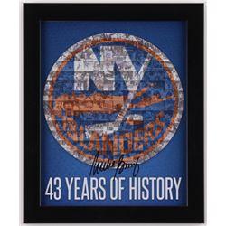 Mike Bossy Signed New York Islanders 9.5x11.5 Custom Framed Photo Display (Steiner COA)