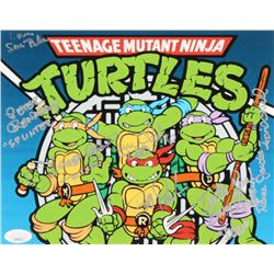 Teenage Mutant Ninja Turtles 8x10 Photo Signed by (7) with Cam Clarke, Rob Paulsen, Townsend Coleman