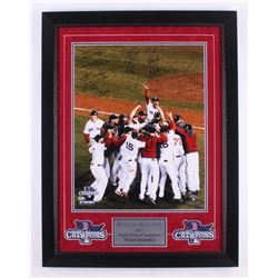 2013 World Series Champions Boston Red Sox 23.25x30.25 Custom Framed Team-Photo Display Signed by (1