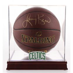 Larry Bird Signed NBA Basketball with Display Case (PSA COA)