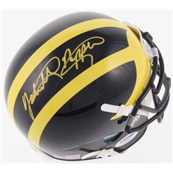 Jabrill Peppers Signed Michigan Wolverines Mini-Helmet (PSA COA)