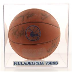 1979-80 Philadelphia 76ers Team S-igned Basketball by (14) with Julius Erving, Moses Malone, Maurice