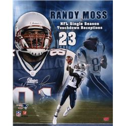 Randy Moss Signed New England Patriots 16x20 Photo (Your Sports Memorabilia Store COA  Moss Hologram