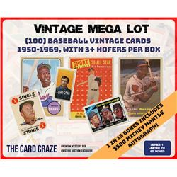 "The Card Craze ""Baseball Vintage Mega Lot"" Mystery Box"