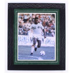 "Pele Signed ""New York Cosmos"" 24.5x28 Custom Framed Photo Display (Steiner COA)"