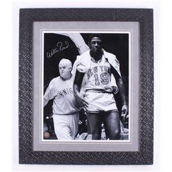 Willis Reed Signed New York Knicks 24.5x28 Custom Framed Photo Display (Steiner COA)