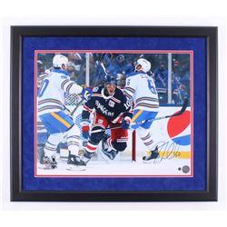 J. T. Miller Signed New York Rangers 22.5x26 Custom Framed Photo Display (Steiner Hologram)