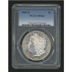 1881-S Morgan Silver Dollar (PCGS MS64)