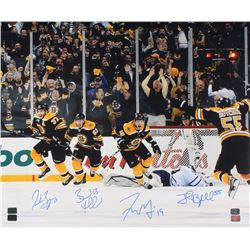 "Boston Bruins ""2011 Stanley Cup"" 20x24 Photo Signed By (4) with Patrice Bergeron, Brad Marchand, Joh"