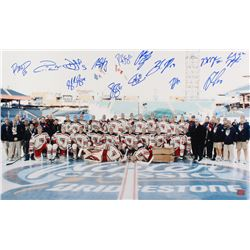"New York Rangers ""2012 Winter Classic"" 18x30 Photo Signed by (14) with Ryan Callahan, Brad Richards,"