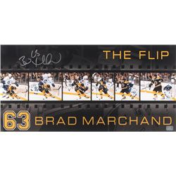 "Brad Marchand Signed Boston Bruins ""The Flip"" 12x24 Photo (Marchand COA)"