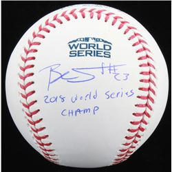 "Blake Swihart Signed Official 2018 World Series Baseball Inscribed ""2018 World Series Champ"" (JSA CO"