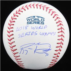 "Ryan Brasier Signed Official 2018 World Series Baseball Inscribed ""2018 World Series Champs"" (JSA CO"
