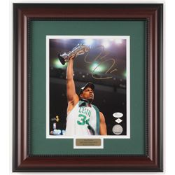 "Paul Pierce Signed Boston Celtics ""NBA Finals"" 14.75x16.5 Custom Framed Photo Display (JSA COA)"