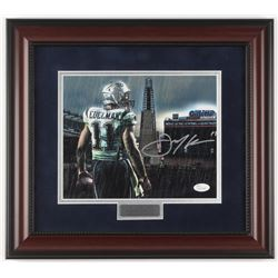 "Julian Edelman Signed New England Patriots ""Gillette Stadium"" 14.75x16.5 Custom Framed Photo Display"