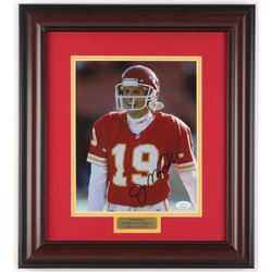 Joe Montana Signed Kansas City Chiefs 14.75x16.5 Custom Framed Photo Display (JSA COA)