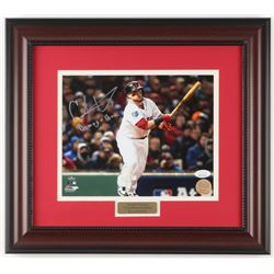 "Christian Vazquez Signed Boston Red Sox ""2018 World Series"" 14.75x16.5 Custom Framed Photo Display I"