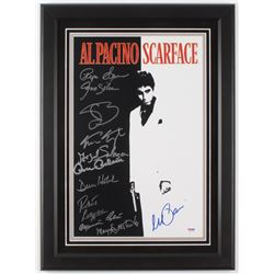 """Scarface"" 16.5x22.5 Custom Framed Movie Poster Display Cast-Signed by (11) with Al Pacino, Steven B"