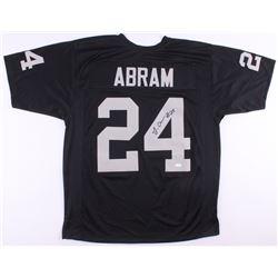 Johnathan Abram Signed Oakland Raiders Jersey (JSA COA)
