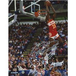 Dominique Wilkins Signed Atlanta Hawks 8x10 Photo (Steiner COA)