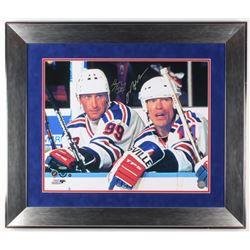 Wayne Gretzky  Mark Messier Signed Edmonton Oilers 24.5x28.5 Custom Framed Photo Display (UDA COA  S