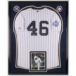 Andy Pettitte Signed New York Yankees 34x42 Custom Framed Jersey Display (MLB Hologram)