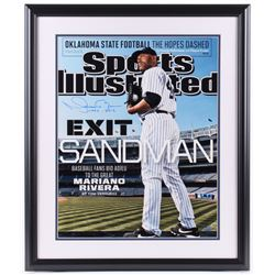 "Mariano Rivera Signed New York Yankees LE 22x26 Custom Framed Photo Display Inscribed ""1995-2013"" (S"