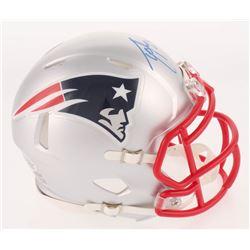 Ty Law Signed New England Patriots Speed Mini Helmet (Beckett COA)
