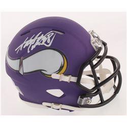 Adrian Peterson Signed Minnesota Vikings Matte Purple Speed Mini Helmet (Beckett COA)