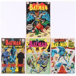 "Lot of (4) 1968-69 ""Batman"" DC Comic Books with #206, #207, #208,  #209"