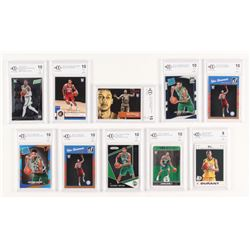 Lot of (10) BCCG Graded Basketball Cards with 2007-08 Topps Rookie Set #2 Kevin Durant (BCCG 9),  20