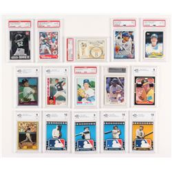 Lot of (15) Graded Baseball Cards with 1987 Donruss #46 Mark McGwire (BCCG 9), 2010 Topps Logoman HT