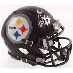 James Washington Signed Pittsburgh Steelers Matte Black Speed Mini-Helmet (JSA COA)