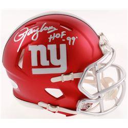 "Lawrence Taylor Signed New York Giants Blaze Speed Mini-Helmet Inscribed ""HOF '99"" (JSA COA)"