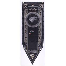 """Kit Harington Signed """"Game of Thrones: Stark House"""" 18x60 Banner (Radtke COA)"""