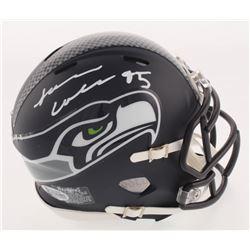 L. J. Collier Signed Seattle Seahawks Matte Navy Speed Mini Helmet (Beckett COA)