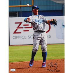 "Javier Baez Signed Daytona Cubs 11x14 Photo Inscribed ""1 Rd Pick 2011"" (JSA COA)"