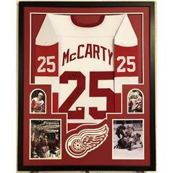 Darren McCarty Signed Detroit Red Wings 34x42 Custom Framed Jersey (JSA COA)