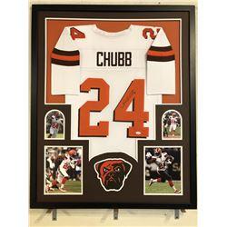 Nick Chubb Signed Georgia Bulldogs 34x42 Custom Framed Jersey (JSA COA)