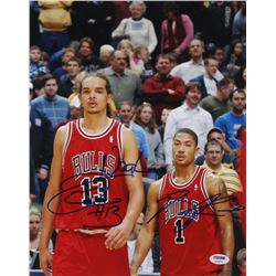 Derrick Rose  Joakim Noah Signed Chicago Bulls 11x14 Photo (PSA COA)