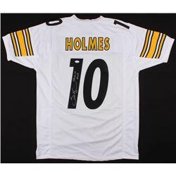 "Santonio Holmes Signed Pittsburgh Steelers Jersey Inscribed ""SB XLIII MVP"" (JSA COA)"