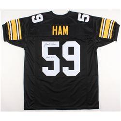 "Jack Ham Signed Pittsburgh Steelers Jersey Inscribed ""HOF 88"" (JSA COA)"