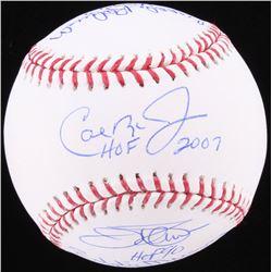 Baltimore Orioles Hall Of Fame OML Baseball Signed by (5) with Jim Palmer, Cal Ripken Jr., Brooks Ro