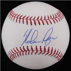 Nolan Ryan Signed OML Baseball (AI Verified COA  Ryan Hologram)