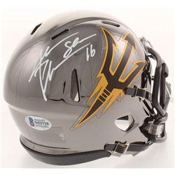 Jake Plummer Signed Arizona State Sun Devils Chrome Speed Mini Helmet (Beckett COA)