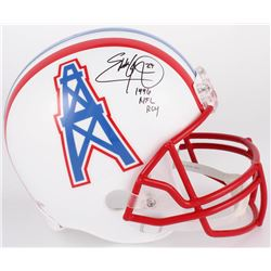 "Eddie George Signed Houston Oilers Full-Size Helmet Inscribed ""1996 NFL ROY"" (Beckett COA)"