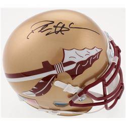 Deion Sanders Signed Florida State Seminoles Mini-Helmet (Beckett COA)