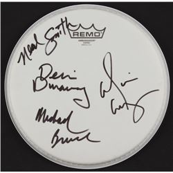 Alice Cooper Drum Head Signed by (4) with Alice Cooper, Michael Bruce, Dennis Dunaway  Neal Smith  (