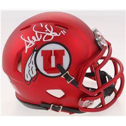 Alex Smith Signed Utah Utes Speed Mini Helmet (Beckett COA)