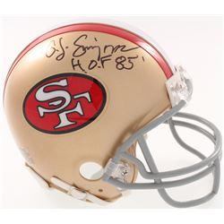 "O.J. Simpson Signed San Francisco 49ers Mini Helmet Inscribed ""H.O.F 85'"" (JSA COA)"